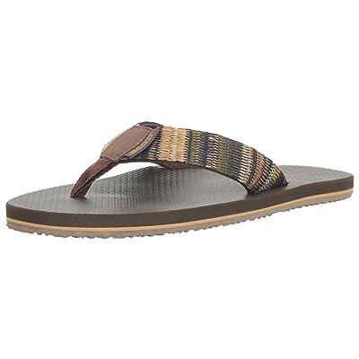 Scott Hawaii Men's Aina Flip Flop, Brown, 13 M US   Sandals