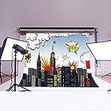 LB 7x5ft Super City Vinyl Photography Backdrop Customized Photo Background Studio Prop HR01
