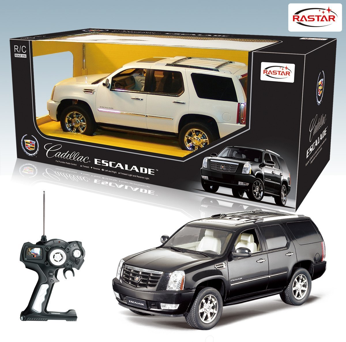 amazoncom 114 scale black cadillac escalade 2008 rc model car official licensed product toys games
