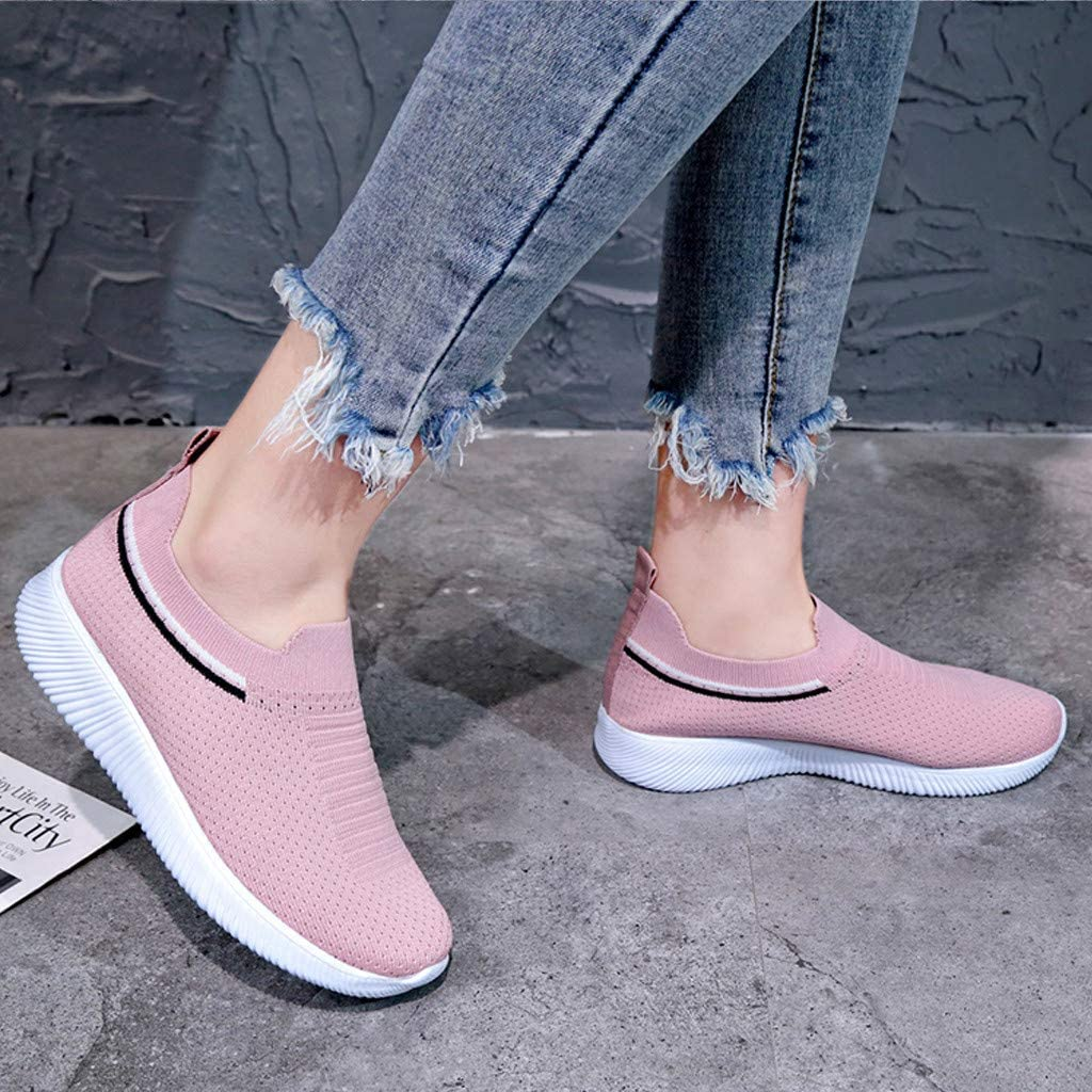 Hollow Out Pull On Bowknot Mesh Womens Sweet Dress Shoes Hot Sale Casual Fashion