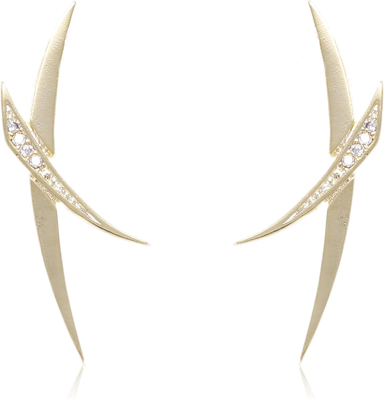 Delicate Geometric Jewelry Leaf Earrings Drop Earrings Silver Minimalist Iridescent Leather Earrings Gift