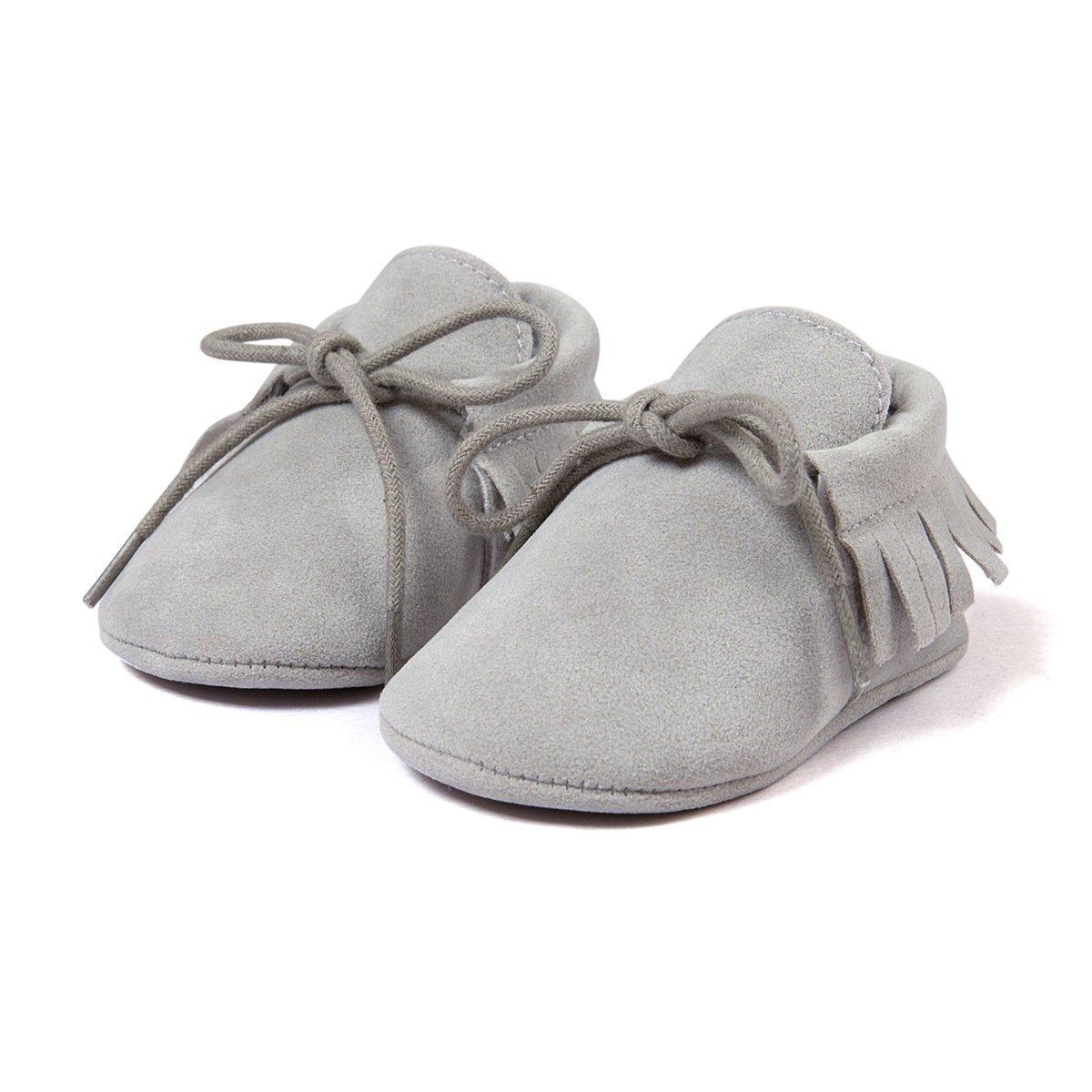 11cm//0-6 Monate, Khaki Auxma Baby M/ädchen Junge Wiege-Quasten-weiche alleinige einzelne beil/äufige Schuhe
