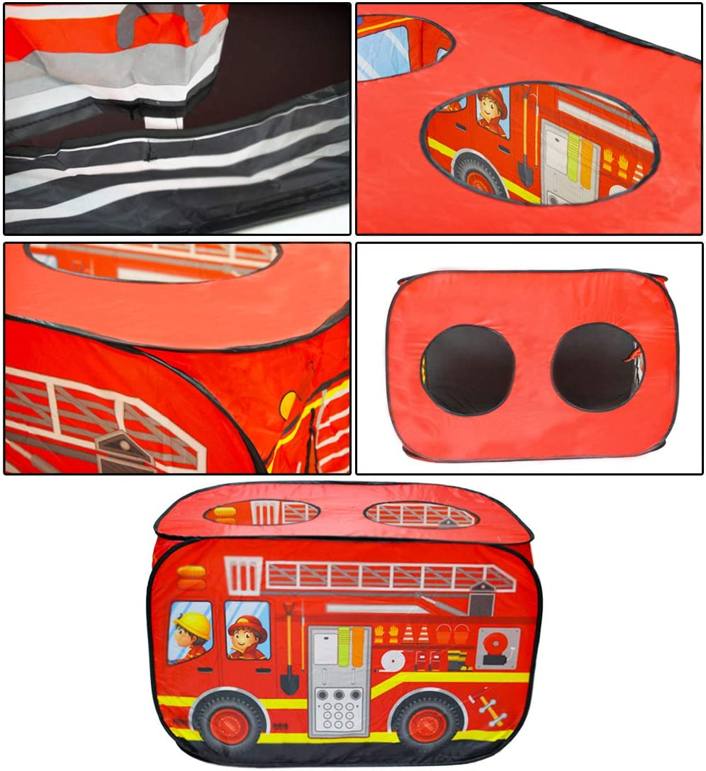 Red deAO Pop Up Play Tent for Boys and Girls Outdoor Activities for Children and Kids Parties
