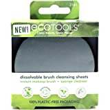 Ecotools Dissolvable Makeup Brush Cleaning Sheets, Holiday Stocking Stuffer, Biodegradable and Plantable Packaging, 30…