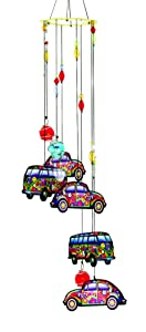 Spoontiques 11951 Hippie Car/Love Bus Metal Wind Chime