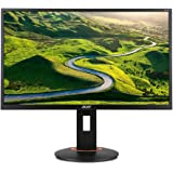 Acer XF240Hbmjdpr 24 Inch FHD Gaming Monitor, Black (TN Panel, FreeSync, 144 Hz, 1 ms, DP, HDMI, DVI, Height Adjustable Stand)