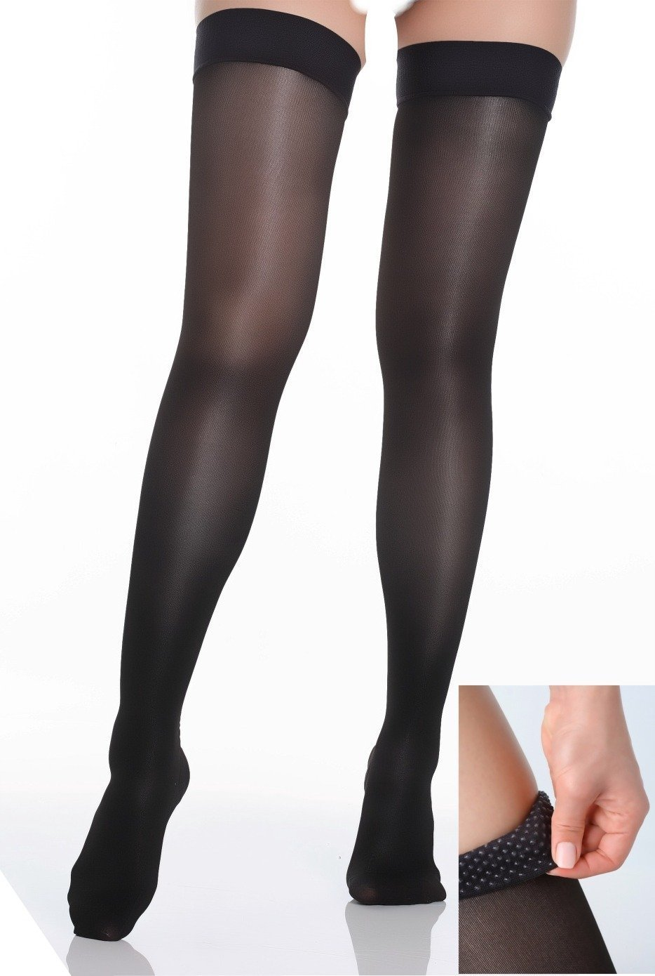 amazon com briteleafs opaque thigh high compression stockings