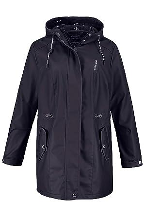 29d9e85f2fe1 Ulla Popken Women s Plus Size Must Have Rain Jacket Dark Blue 12 14 714666  70