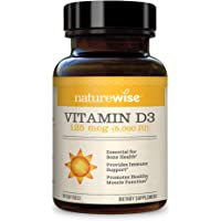 NatureWise Vitamin D3 5,000 IU (3 Month Supply) for Healthy Muscle Function, Bone Health, and Immune Support Non-GMO in…