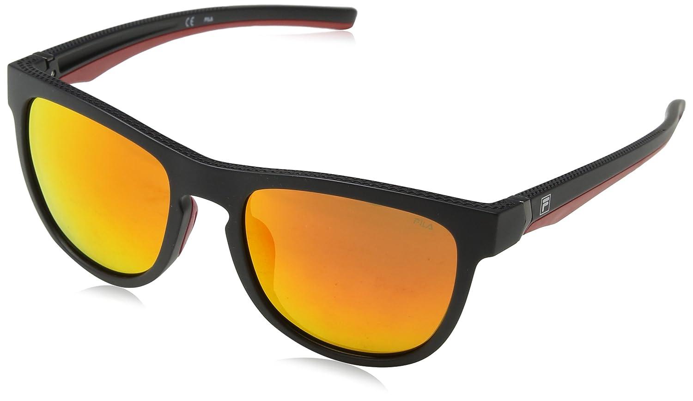 Fila Hombre N/A Gafas de sol, Negro (Semi-Matt Black), 53