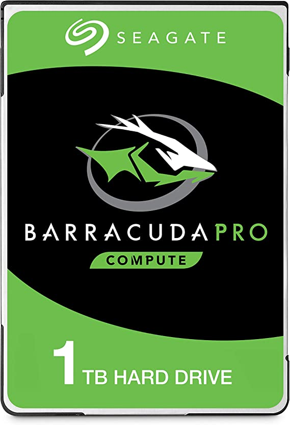 Seagate BarraCuda Pro 1TB Internal Hard Drive Performance HDD – 2.5 Inch SATA 6 Gb/s 7200 RPM 128MB Cache for Computer Desktop PC Laptop