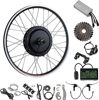 YOSE POWER E-Bike Kit de Conversion de Roue Arrière 48V1000W 26 Pouces avec 7 Vitesses Shimano pour Vélo Électrique Freewheel