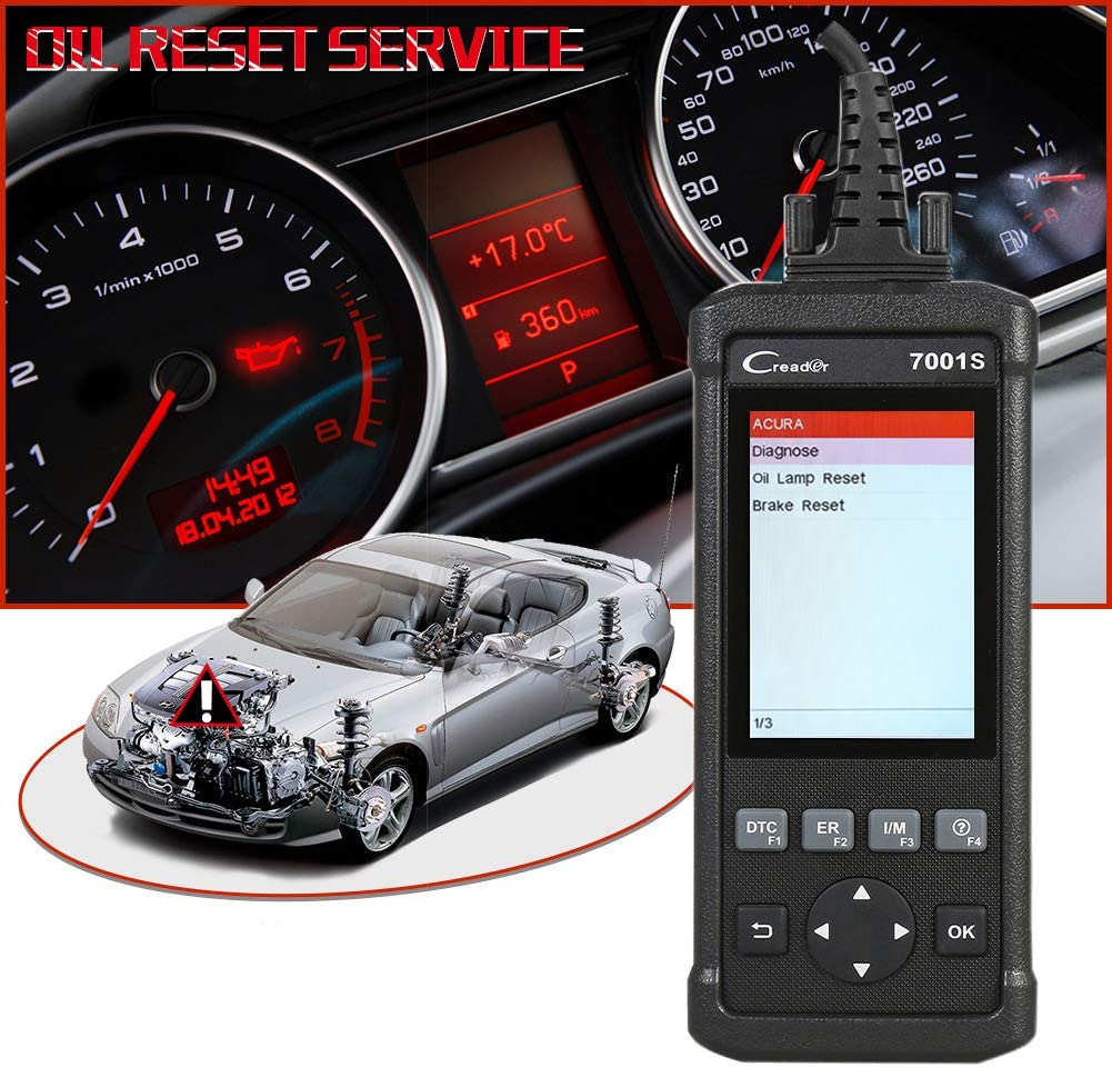 LAUNCH CReader 7001S Car Scanner with 4.0 Display ABS SRS Diagnoses Oil Rest EPB Service and Full OBD Functions for OBD2//CAN Vehicles