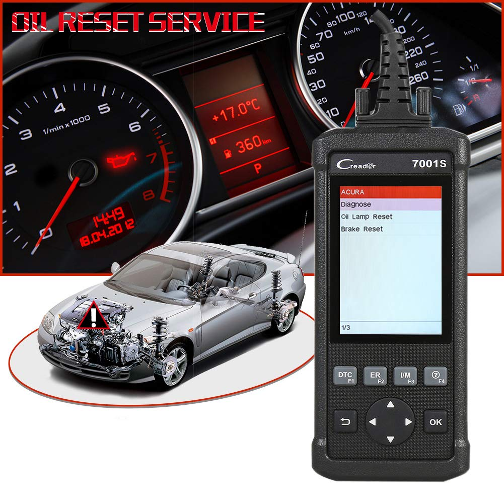 Launch OBD2 Scanner,Code Reader 7001S OBD II Scan Tool ABS SRS Diagnostic Scanner Tools with Oil Rest EPB Service,ABS Reset Service Functions. by LAUNCH (Image #5)