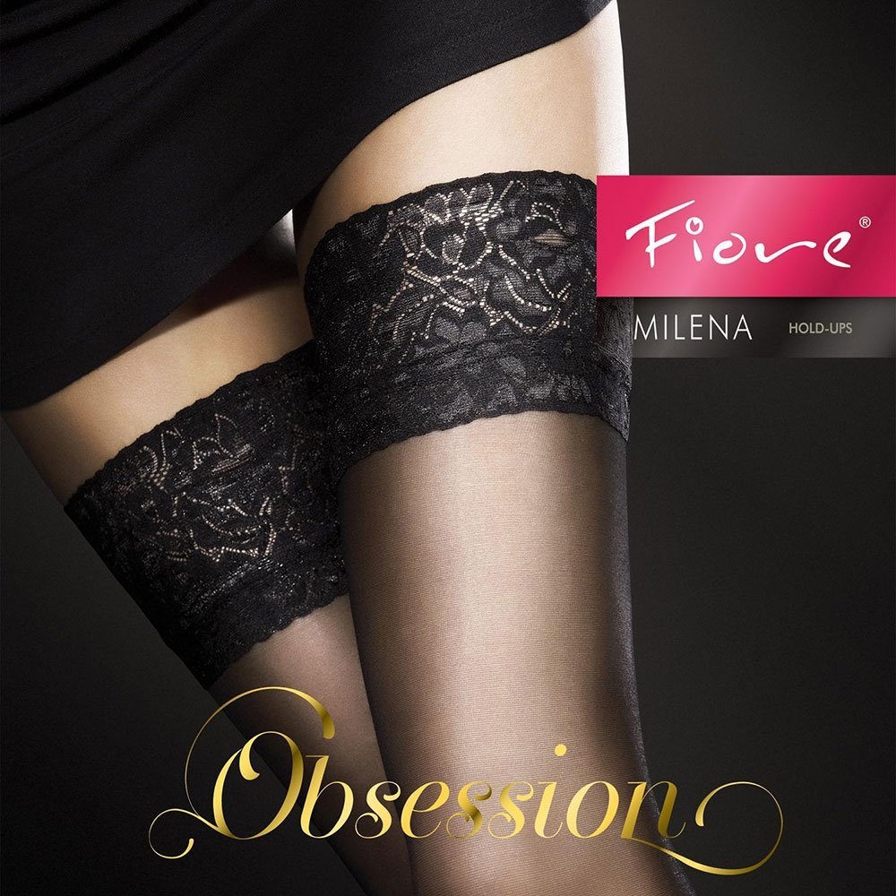 Fiore Damen Milena//Obsession Halterlose Str/ümpfe 20 DEN