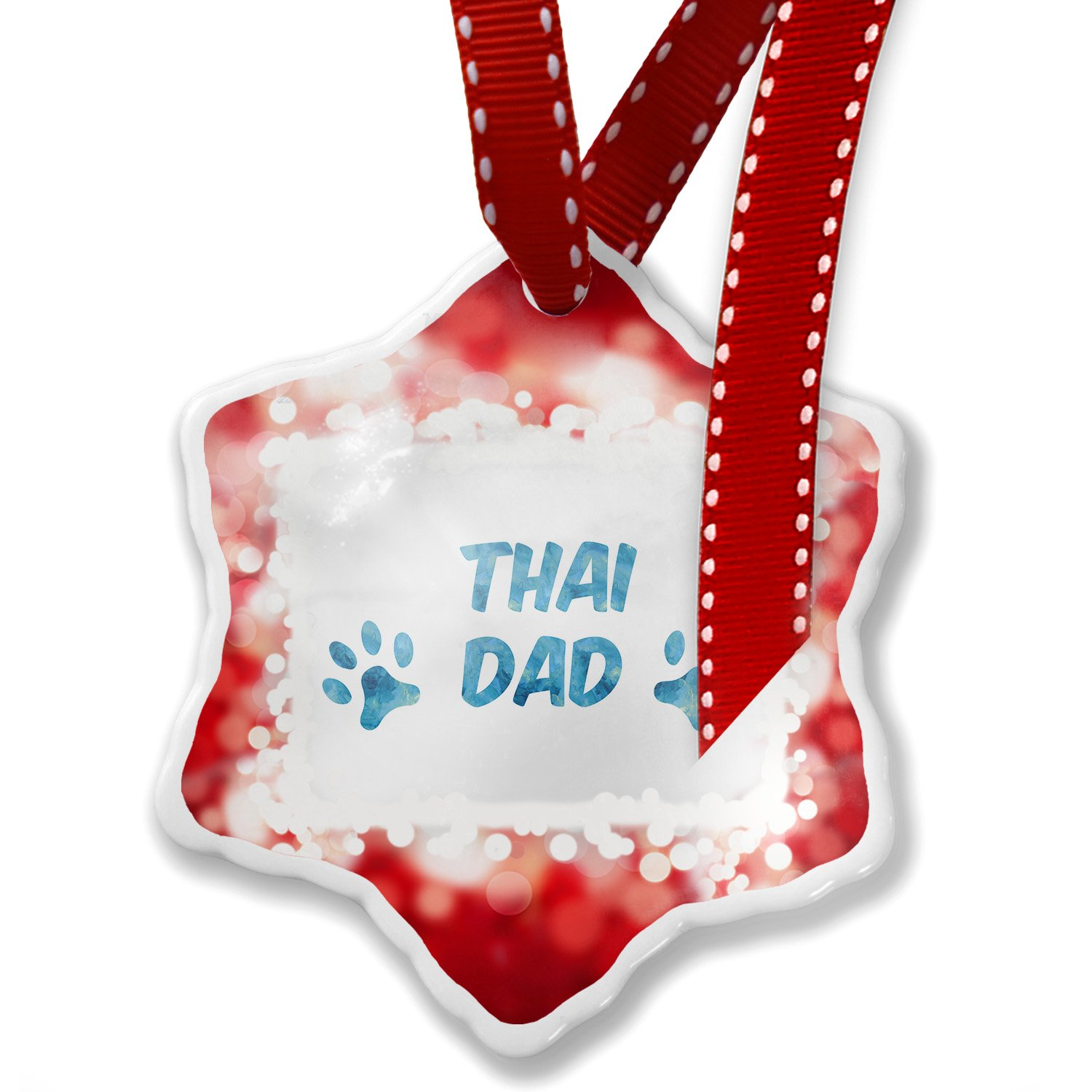 Christmas Ornament Dog & Cat Dad Thai, red - Neonblond by NEONBLOND