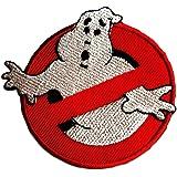Parches - Ghostbuster Comic niños película - rojo - Ø7,5cm -termoadhesivos bordados aplique para ropa