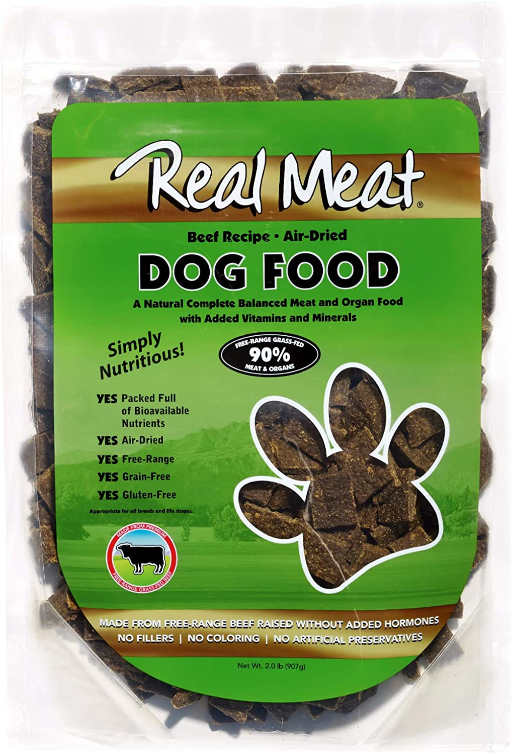 Real Meat Air-Dried Dog Food, Beef