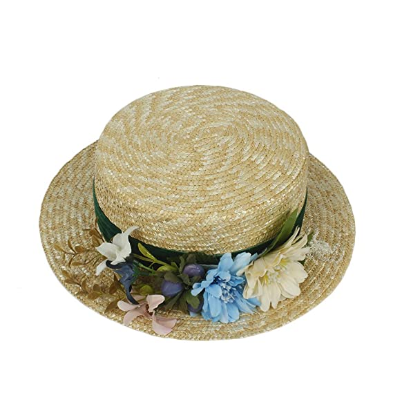 JIALUN-Hat Women Summer Beach Sun Hats 2017 Flat Top Straw Hat Men Boater  Hats Bone Feminino Fashion   Personality (Color   Natural 6d81c99d6fab