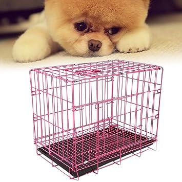 Burrby Jaula para Mascotas, 2 Puertas, Metal, Plegable, para Cachorros, Jaula
