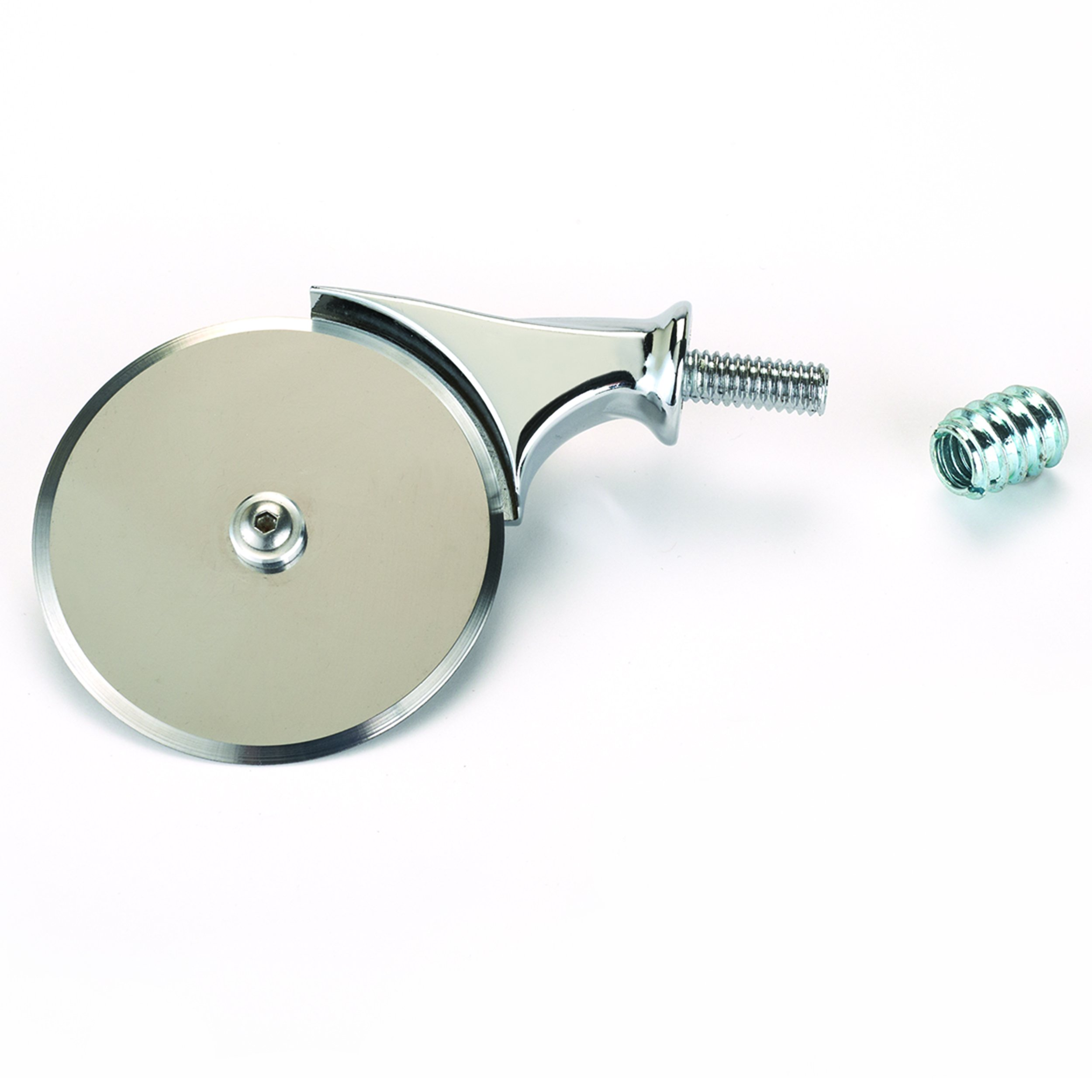 Woodturning Project Kit for 2-1/2'' Miniature Pizza Cutter, Chrome