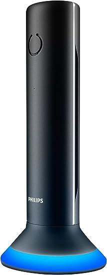 PHILIPS M3451B/90 Teléfono Inalámbrico Color Negro, Manos Libres: Amazon.es: Electrónica