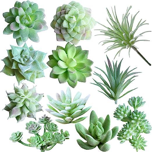 Amazon Com Supla 11 Pcs Mini Artificial Succulents Picks Unpotted