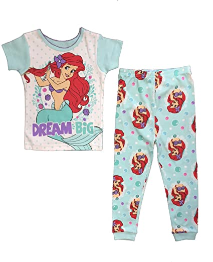 183604b84 Amazon.com  Disney The Little Mermaid Toddler Girls 2 Pc Cotton ...