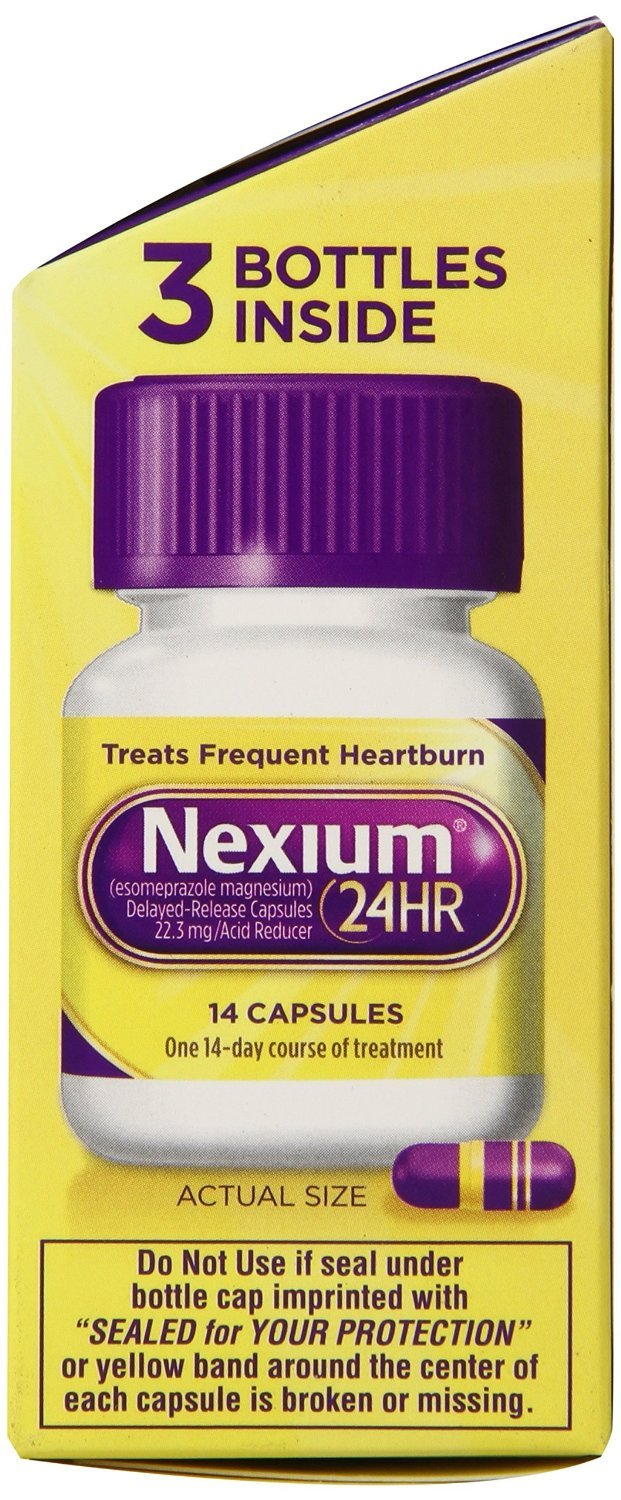 amazon com: nexium 24hr capsules, 126 count pack (1w64ws): health