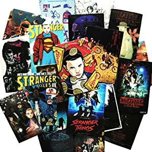 Stranger Things Sticker 36Pcs Movie Stickers Laptop Sticker Waterproof Vinyl Decal Sticker for Cellphone Cars Bicycles Water Bottle Sticker Hydro Flask Luggage Guitar