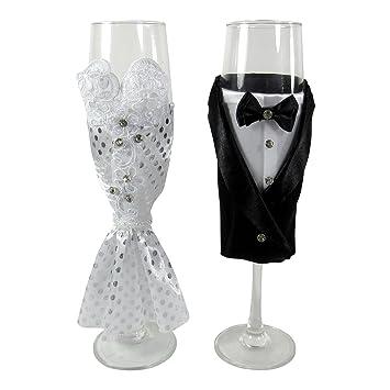 Amazon Bride And Groom Wedding Champagne Flute Glasses Wedding