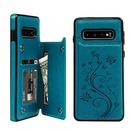 Amazon.com: Funda tipo cartera para Galaxy S10, con ...