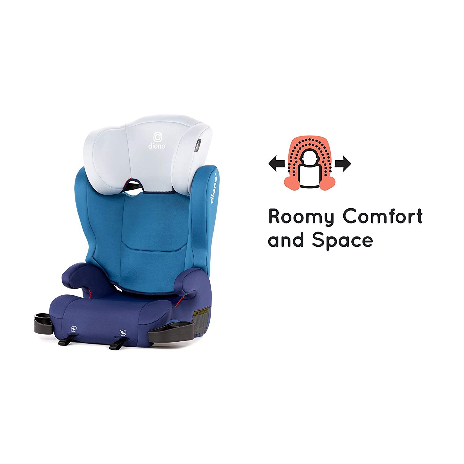 40-120 Pounds Black Diono Cambria 2 High-Back Childrens Booster Seat 6 Position Head-Support