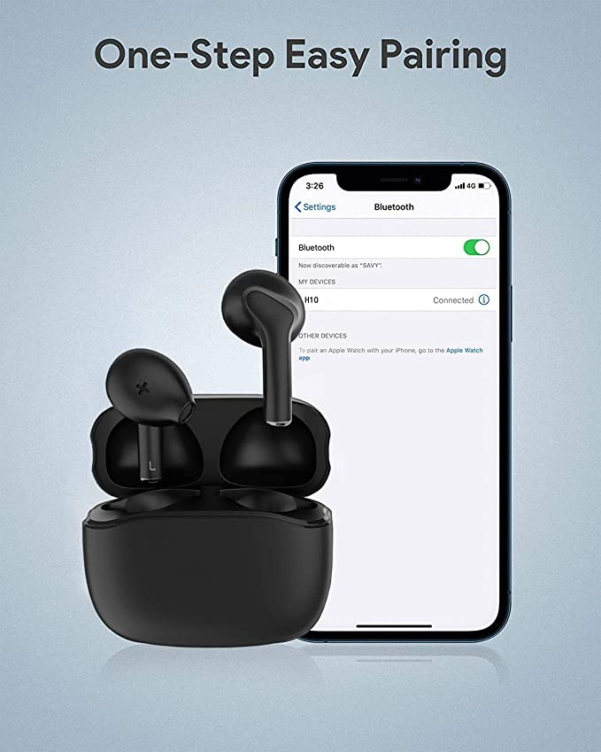 Bluetooth-Kopfh/örer,Kabellose Kopfh/örerr IPX7 wasserdichte,Noise-Cancelling-Kopfh/örer,Ger/äuschisolierung,mit 24H Ladek/ästchen und Mikrofon f/ür Android//iPhone//Samsung//Apple AirPods Pro