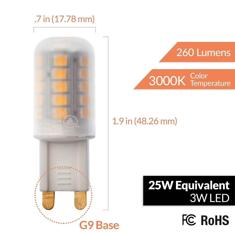 Newhouse Lighting G9-3025-4 LED Bulb White 4 Piece