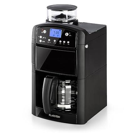 Klarstein Aromatica • cafetera con molinillo Carafe en verre Negro ...