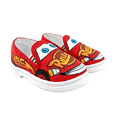 1c69508788ca0 Badhuche Kids Handpainted McQueen Printed Customised Shoes: Buy ...