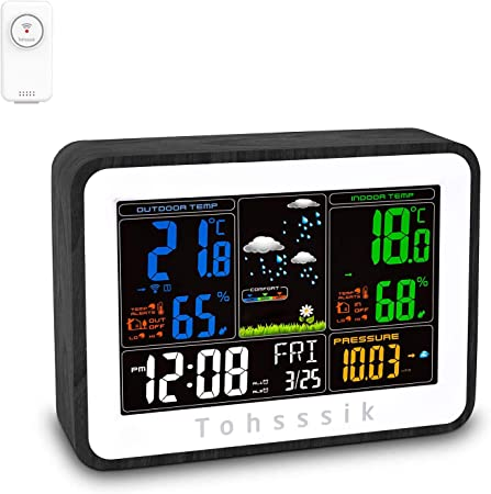 433MHz Wireless Weather Station With Forecast Temperature Digital Thermometer XI