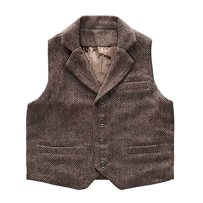 1920s Children Fashions: Girls, Boys, Baby Costumes Coodebear Boys Girls Map Lined Pockets Buttons V Collar Vests  $19.98 AT vintagedancer.com