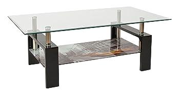 Ts Ideen Design Hartglas Wohnzimmer Couch Glastisch Glas Beistell Tisch Edelstahl Hochglanz Ablage Taxi