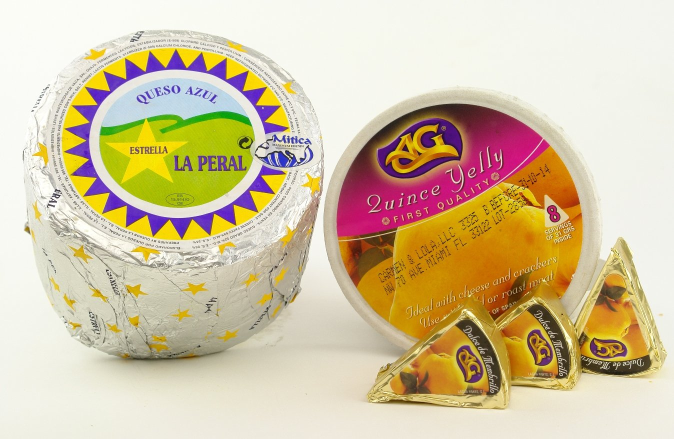 Carmen & Lola La Peral Blue Cheese 2 Lb. Wheel and Quince Jelly Pack
