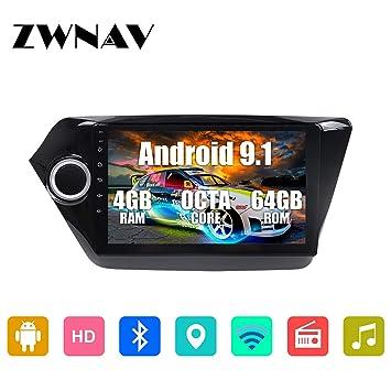 ZWNAV 9 Pulgadas Android 9.1 estéreo para Coche para Kia Rio ...