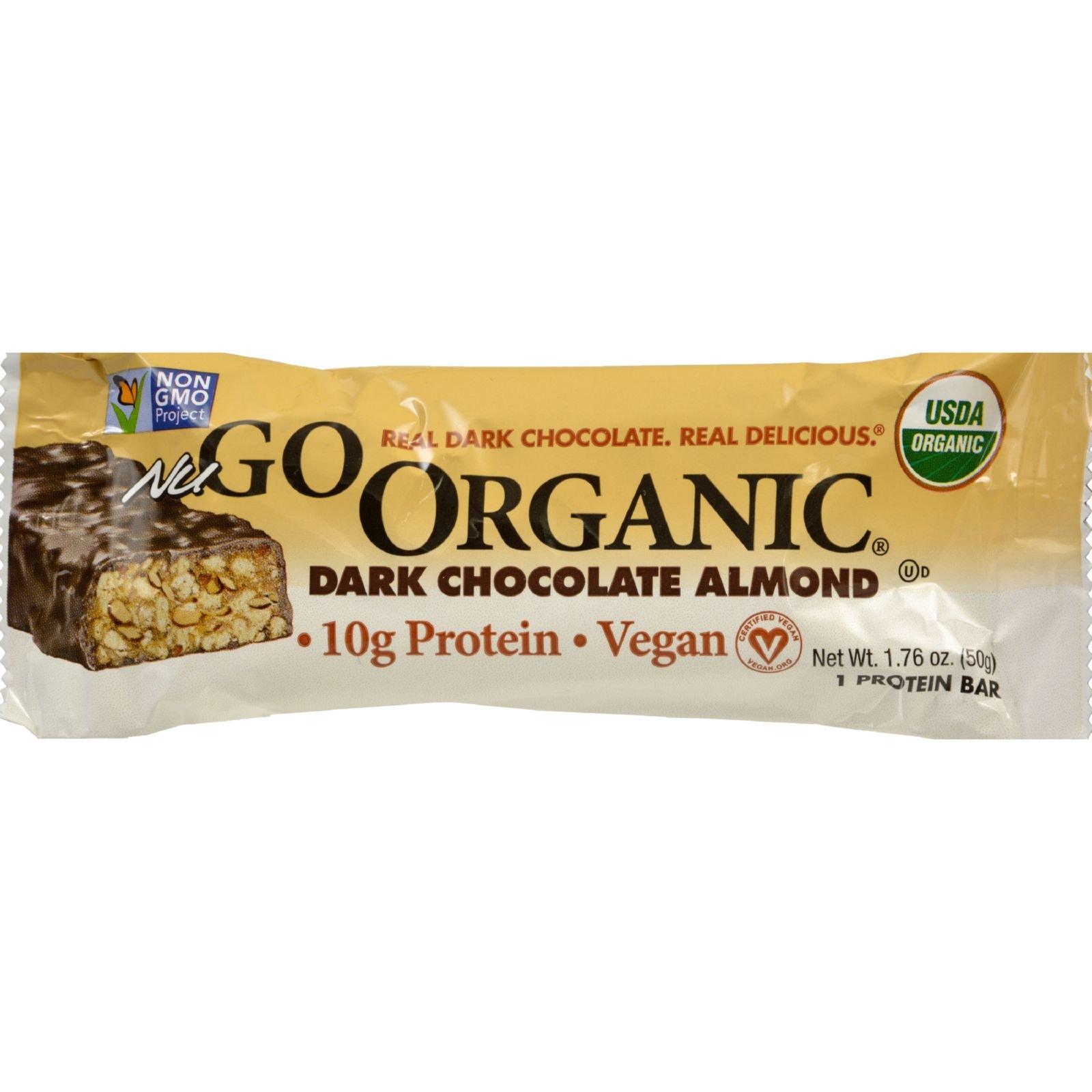 NuGO Nutrition Bar - Organic Dark Chocolate Almond - 1.76 oz - Case of 12