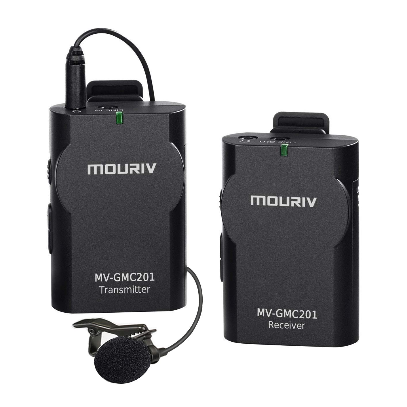 Newest MOURIV MV-GMC201 Universal Lavalier Wireless Microphone Mic with Real-time Monitor for DSLR Camera, Camcorder, IOS Smartphone Tablet Gopro 4332801727