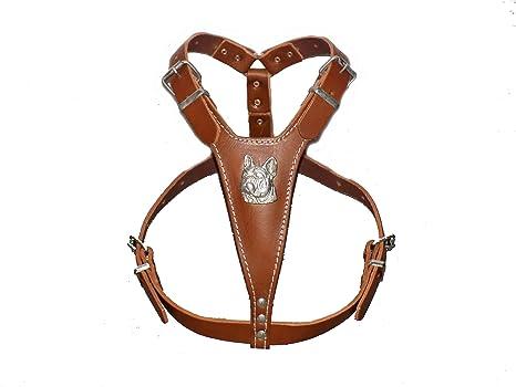 Leather Dog Harness Arnés de Piel para Perro, Color marrón, tamaño ...