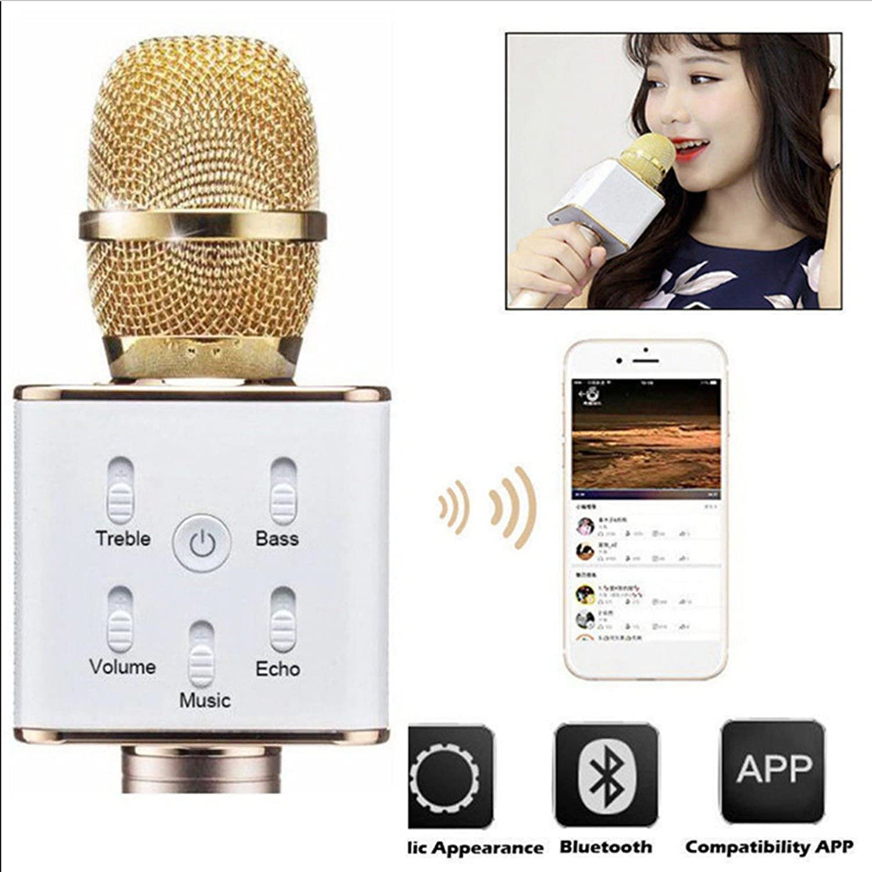Silver KTV-K088 Mini Wireless Bluetooth Microphone Karaoke Player Stereo Speaker