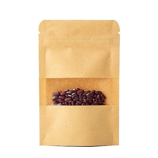 Bolsas de papel pequeñas con ventana para empacar café ...