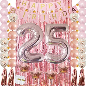 Amazon 25th Birthday Decorations