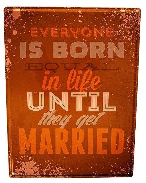 Cartel Letrero de Chapa Refranes boda: Amazon.es: Hogar