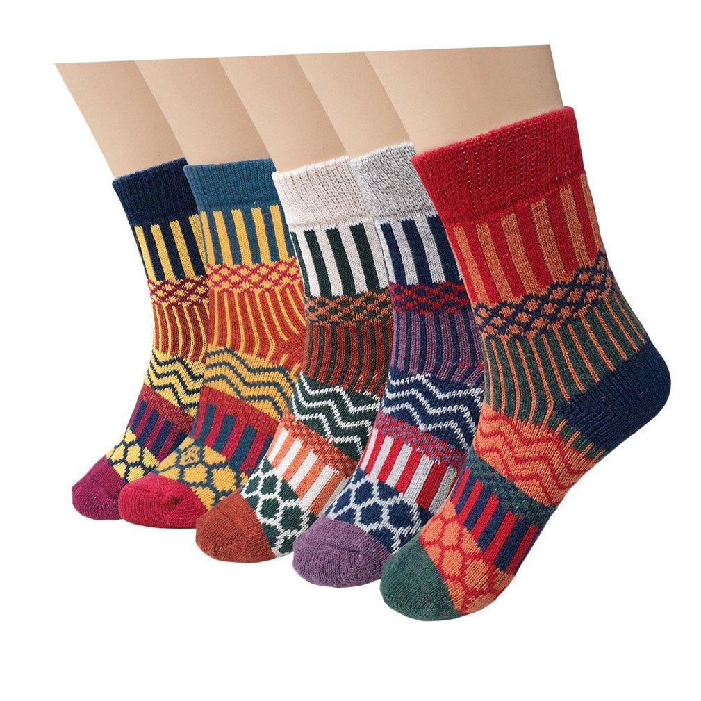 5 Paar Socken Damen Sportsocken bunte Baumwollsocken socken damen 39-42 sneaker muster von Kfnire